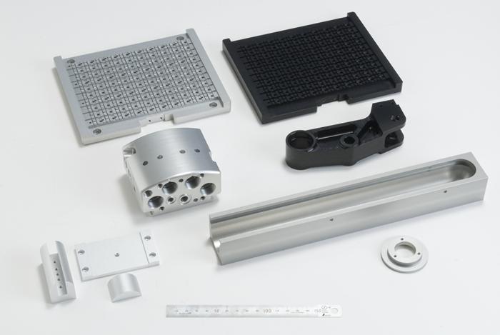 Rigid anodized parts group (white/black)